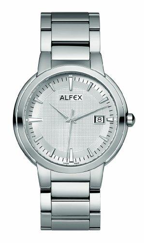 Alfex - 5635_309 - Montre Homme - Quartz Analogique - Cadran Gris - Bracelet Acier Gris