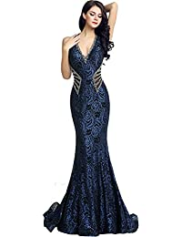 5d465bff66 Sarahbridal Evening Gowns for Women Long Mermaid Prom Dresses Elegant Party  Ball Beaded with Sequins for