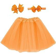 3dc93f23d0 Vestido de tutú de color sólido para niños falda de tutú de tul esponjoso  para