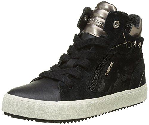 Geox Mädchen J Kalispera Girl D Hohe Sneaker, Schwarz (Black), 34 EU