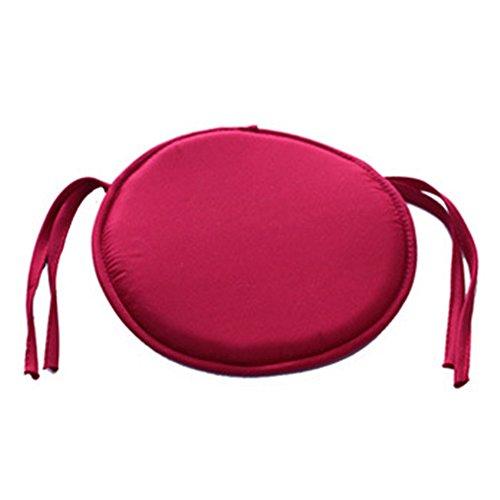 Esszimmerstuhl-Kissen, abnehmbar, Schaumstoff-Kissen, zum Anbinden von Sitzkissen für Gartenstuhl, 38 cm, Violett 38 38cm dunkelrot