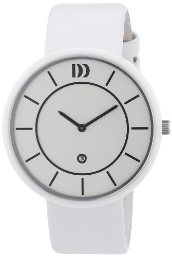 Danish Design - 3314443 - Montre Mixte - Quartz Analogique - Bracelet Cuir Blanc