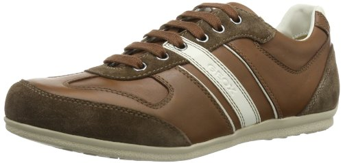 Geox U HOUSTON A, Sneaker uomo, Marrone (Braun (LT BROWN/CHESTNUT C6890)), 44