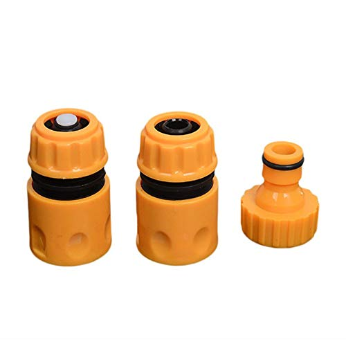 fghfhfgjdfj 3pcs/Set Universal Garden Water Hose Pipe Fitting Set Yellow Water Hose Pipe Connector Adapter Garden Accessories