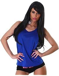 Damen Top Shirt T-Shirt Tanktop Sport Sommer Freizeit Farbe Größe 34 36 38