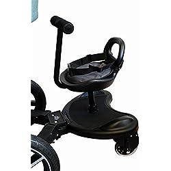 Elternstolz Planche à roulettes avec siège pour poussettes