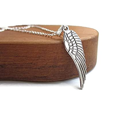 Collier Silver Angel Wings, collier homme Silver Chain, collier argent unisexe
