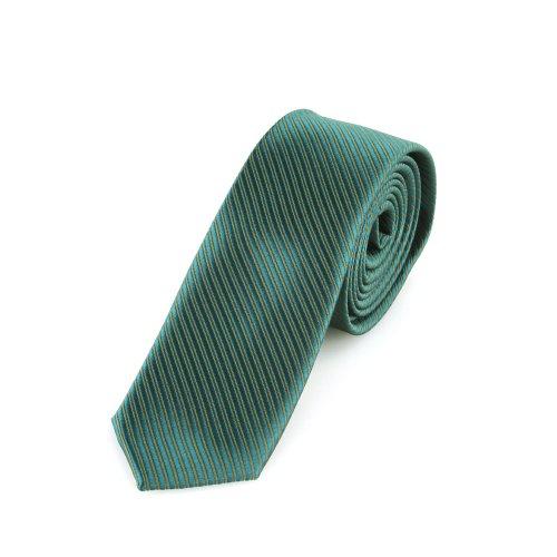 Cravatta DonDon Uomo verde brillante 5 cm di larghezza