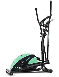Bicicleta elíptica Eliptic Fit de Cecotec. Sistema frenado magnético. Volante inercia 6 Kg. 8 niveles resistencia. Pulsómetro. Estabilizadores. Pantalla LCD. Ruedas.