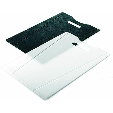 Kuhn Rikon 22073 - Set de 2 tablas de cortar, 38 x 22 cm, color blanco y negro