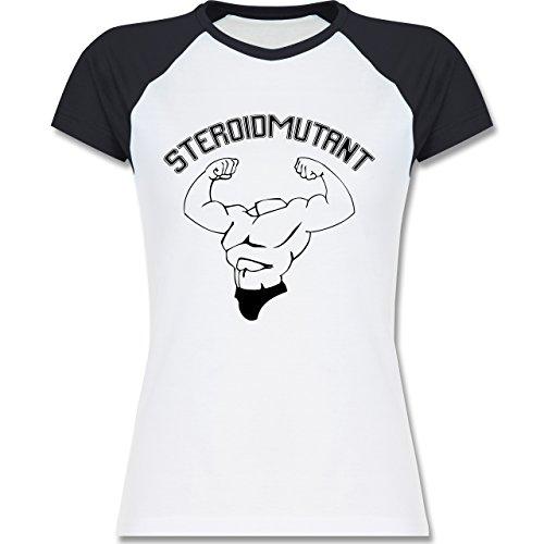 Sonstige Sportarten - Steroidmutant - zweifarbiges Baseballshirt / Raglan T- Shirt für Damen Weiß/