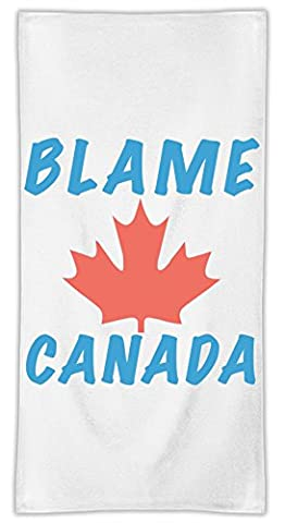 Blame Canada Mikrofasertuch MicroFiber Towel W/ Custom Printed Designs| Eco-Friendly Material| Machine Washable| 50x100 cm | Premium Bathroom Supplies By