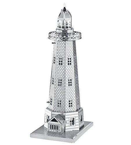 Preisvergleich Produktbild NWYJR Leuchtturm Metall DIY Montage Handwerk Modell Kit Erwachsenen Puzzle 3D-Gebäudemodell