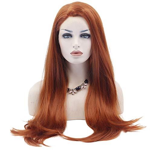 JOYIYUAN Perücke, lang, gewellt, hitzebeständig, glattes Haar, mit Pony, für Cosplay, Halloween, Partys As-Pictured (Halloween-kostüm Für Daphne Erwachsene)