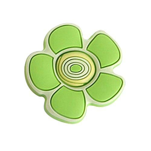 Preisvergleich Produktbild Set 2 Kinder Schlafzimmer Türgriffe Cartoon Grüne Blumen-Schubladengriffe