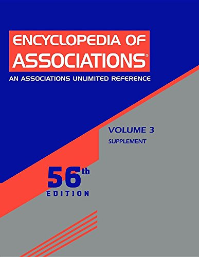 Encyclopedia of Associations: National Organizations of the U.S.: Supplement: 3
