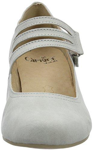 Caprice 24203, Scarpe con Tacco Donna Grigio (Lt Grey Suede)