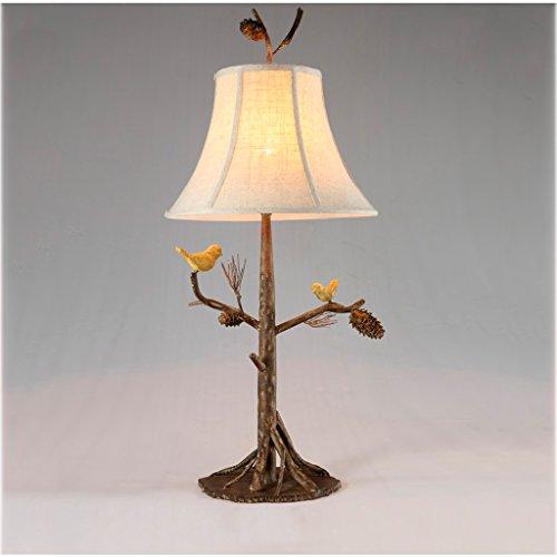 Tannenzapfen Schreibtisch (WYZ Kreative Lampe Retro Tischlampe Eisen Study Lights Kreative Birds Schreibtisch Licht Tannenzapfen Lichter Lampenentwurf (Farbe : A))