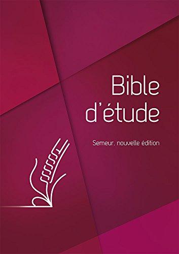 Bible d'étude Semeur, nouvelle édition Couverture rigide rouge, tranche blanche par Excelsis