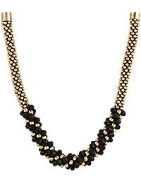 Zeneme Antique Stone Black Gold Designer Necklace Set / Jewellery Set For Women/Girls