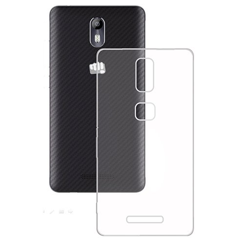 Casotec Soft TPU Back Case Cover for Micromax E383 Evok - Clear