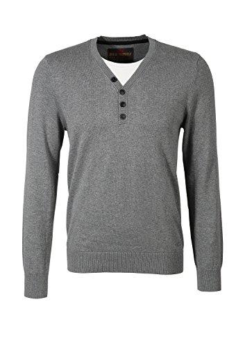 QS by s.Oliver 44.899.61.0135 - Pull - Homme Gris - Grau (dark grey melange 9730)