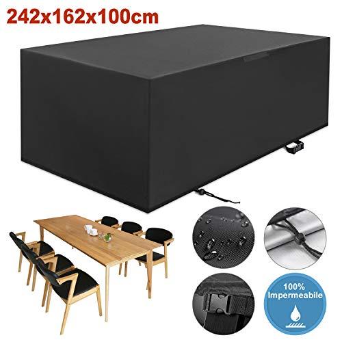 YISSVIC Cubierta de Muebles de Jardín Fundas de Muebles Impermeable Resistente al Polvo Anti-UV Protección...