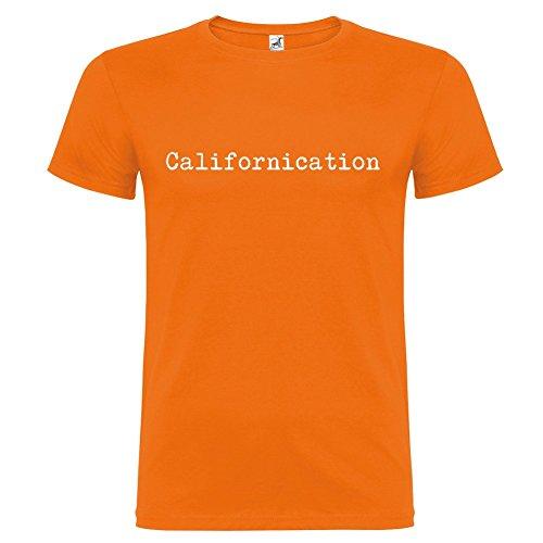 T-shirt manica corta Unisex Californication by Bikerella Arancione/Bianco