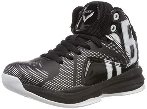 Elaphurus Herren Jungen Basketballschuhe Hohe Sneakers(Schwarz 43EU)