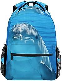 a3db8ad227 COOSUN Daypack Borsa Dolphin casuale scuola dello zaino di viaggio Delfino