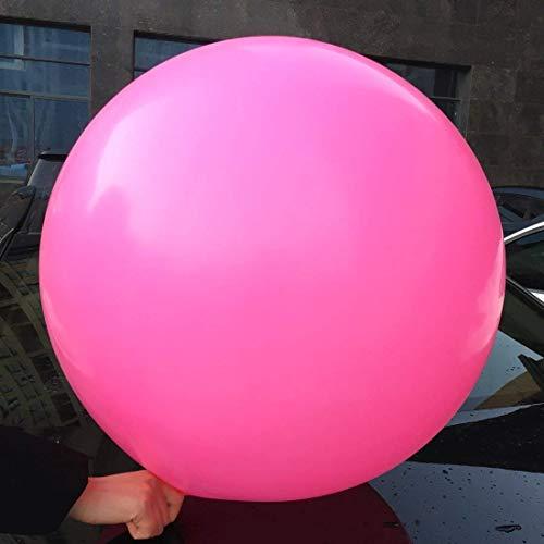 5 globos grandes - Globos redondos de 36 pulgadas - Globos extra grandes y gruesos Globos de látex gigantes reutilizables para bodas, sesiones de fotos y Decoraciones navideñas (rosa intenso)
