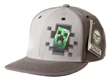 minecraft-creeper-interieur-haut-de-gamme-snap-back-chapeau