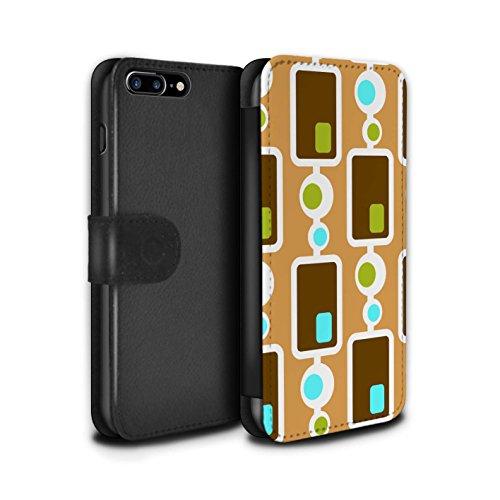 Stuff4 Coque/Etui/Housse Cuir PU Case/Cover pour Apple iPhone 7 Plus / Années 60/1960 Design / Modèle Décennie Collection Années 70/1970