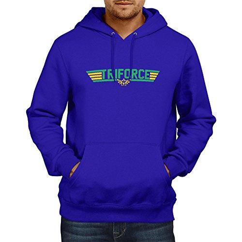 NERDO - Top Triforce - Herren Kapuzenpullover, Größe XXL, marine (Tom Cruise Top Gun Kostüme)