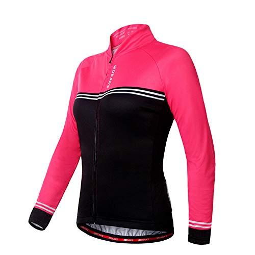Fahrradjacke Mountainbike Rennrad-langärmliges Hemd Feuchtigkeit Wicking Fahrrad Jersey Frauen,M -