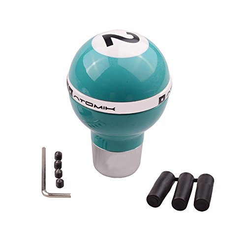 SMKJ Universal Auto Schaltknauf Grün 2 Ball kugel Schaltknüppel Shifter Knob für most Manuelles oder automatisches Getriebe Ohne RGA -