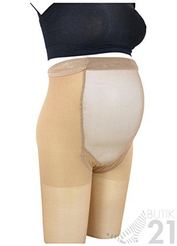 Stützstrumpfhose, Strumpfhose mit Kompression für Schwangere, 18-22 mmHg, ccl1, Tan-Brown (sonnengebräunt) (Medium) (Mmhg 20 Kompression Strumpfhosen)