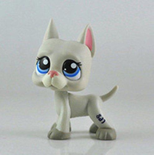 # 1688Littlest Pet Shop raras Gran Danés Perro Gris gris rosa azul lps