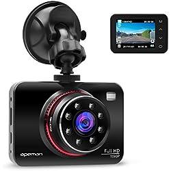 APEMAN Dashcam Full HD Autokamera 1080P DVR mit 170° Weitwinkelobjektiv, Infrarotfunktion, WDR, Bewegungserkennung, Parkmonitor, Loop-Aufnahme, Nachtsicht und G-Sensor