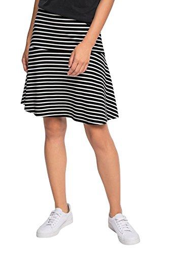 ESPRIT Damen Rock 076EE1D006, Mehrfarbig (Black 001), 34 (Herstellergröße: XS)