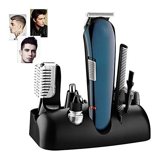 LIIYANN wasserdichte Haarschneidemaschine - All-In-One-Bartschneider, komplettes Haarschneidezubehör 8 Sätze, Stylingscheren und Kämme für das Styling zu Hause
