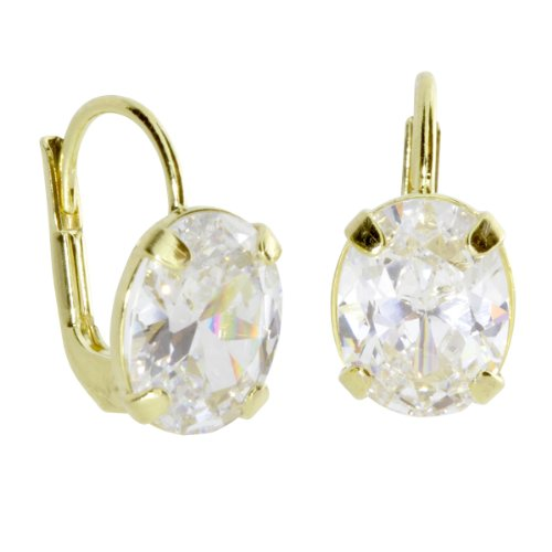 InCollections Damen-Ohrbouton 333/000 Gold mit Zirkonia weiss 0010160116401