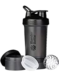 BlenderBottle Prostak Full Color Botella de Agua y Accesorios, Unisex Adulto, Negro, 650 ml