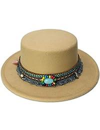 Chlyuan Cappello Fedora Panama a Tesa Larga Berretto a Tesa Larga in Lana  per Bambina Fedora ea405ed2c053