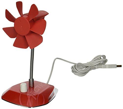 ARCTIC Breeze (Rojo) - Ventilador de escritorio USB con velocidad regu