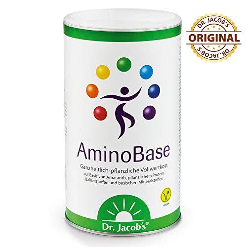 Dr. Jacob's AminoBase 345 g Dose für Basenfasten I vollwertiger basischer Mahlzeitersatz mit pflanzlichem Protein und organischen Mineralstoffen I mit Zink Magnesium Kalium Calcium Vitamin C -