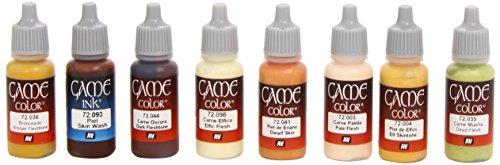 Vallejo (Spiel Farbe Hauttöne geeignet Farbe Set-farbig sortiert (8Stück)