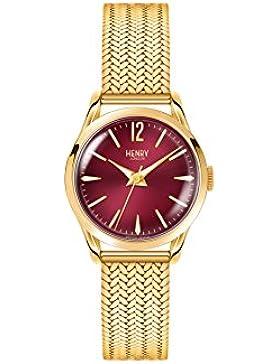 Henry London Unisex-Armbanduhr Holborn Analog Quarz Edelstahl HL25-M-0058