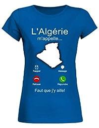 71d6d1ce062 teezily T-Shirt Femme L ALGÉRIE m appelle.