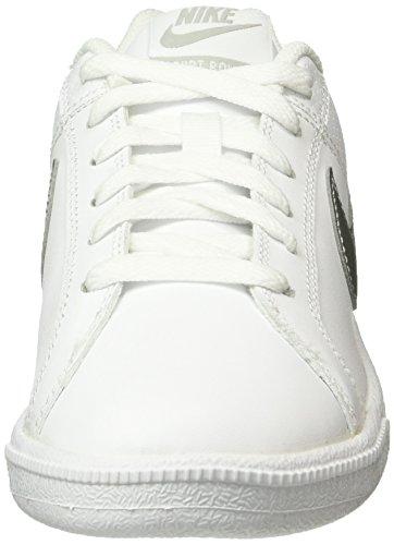 Nike Wmns Court Royale, Chaussures de Sport Femme, White / Metallic Silver, Media Multicolore (Blanco / Plata)